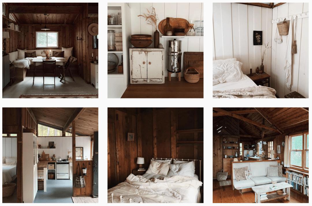 Forestbound cabin instagram