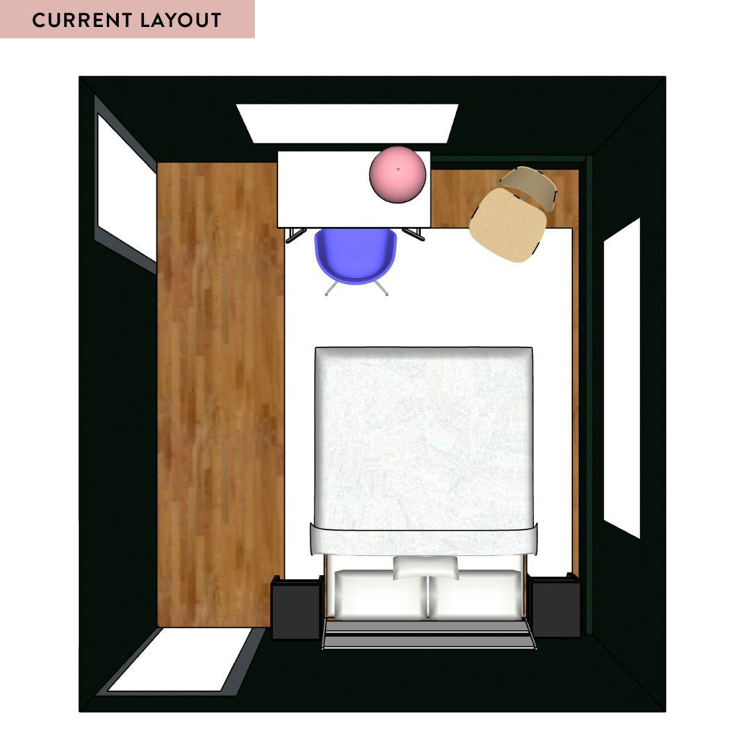 SketchUp Layout of Current Guest Bedroom