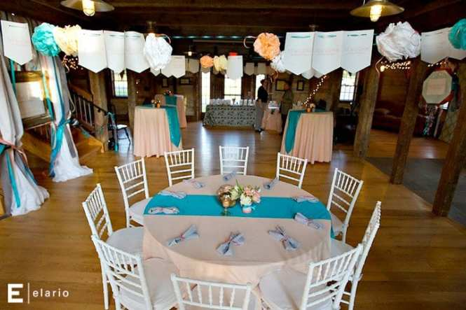 Purple And Teal Wedding Table