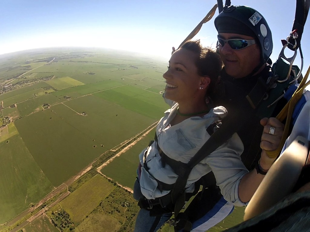 Skydiving in Argentina