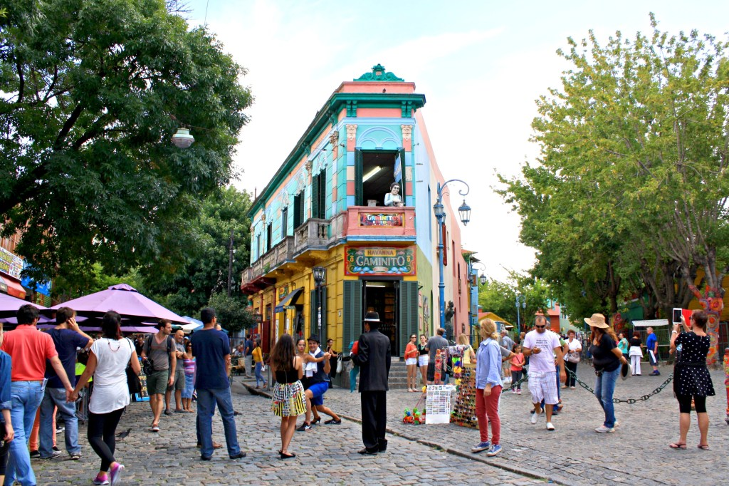 El Caminito in the neighborhood of La Boca, Buenos Aires