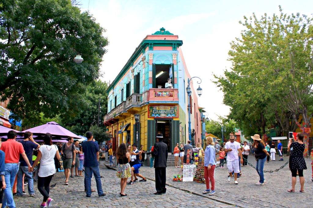 El Caminito in the neighborhood of La Boca, Buenos Aires