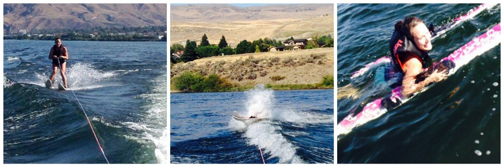 Attempting to waterski.  Wenatchee, Washington