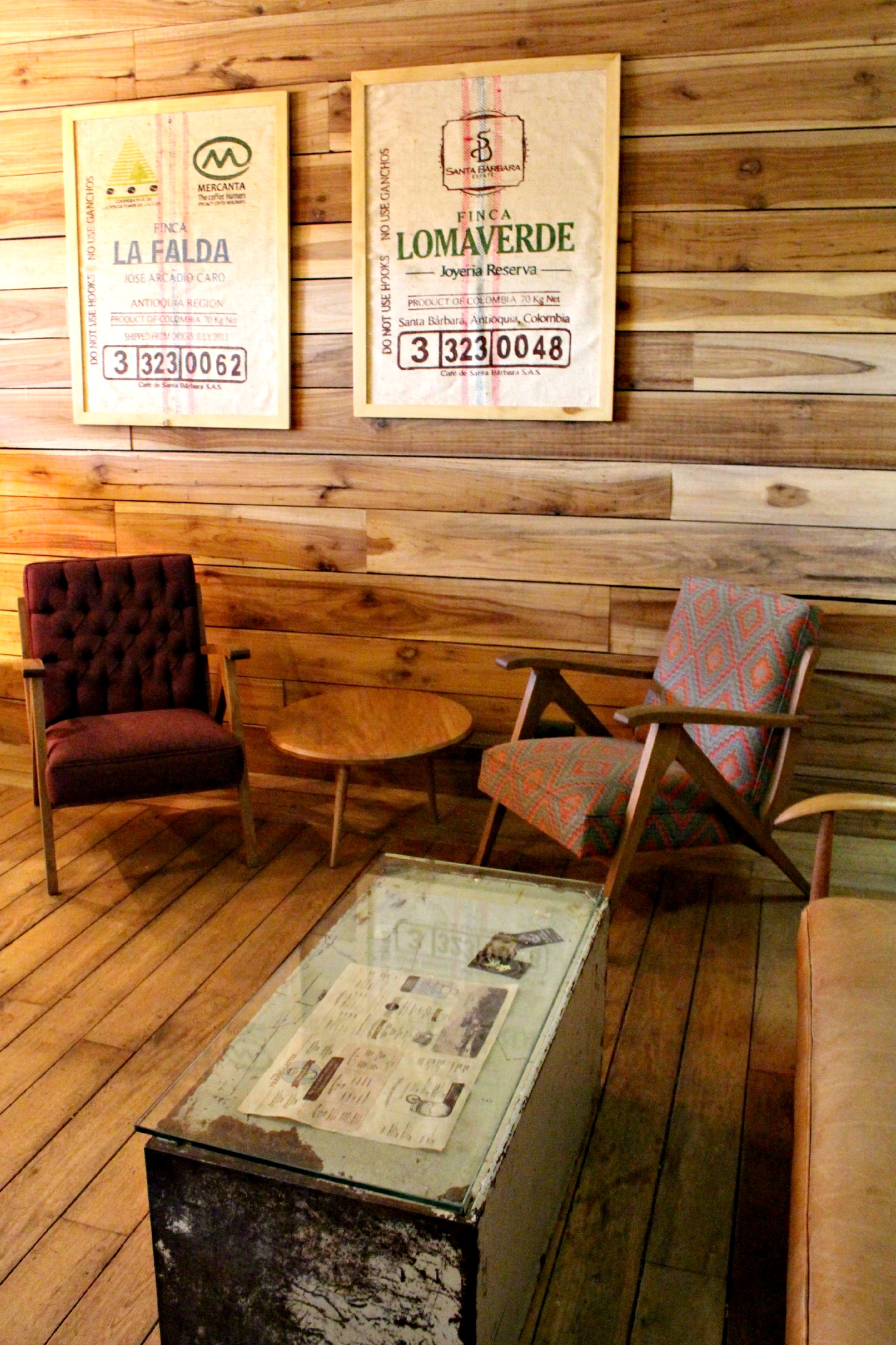 Colombia Seating At Pergamino Cafe, Medellin,