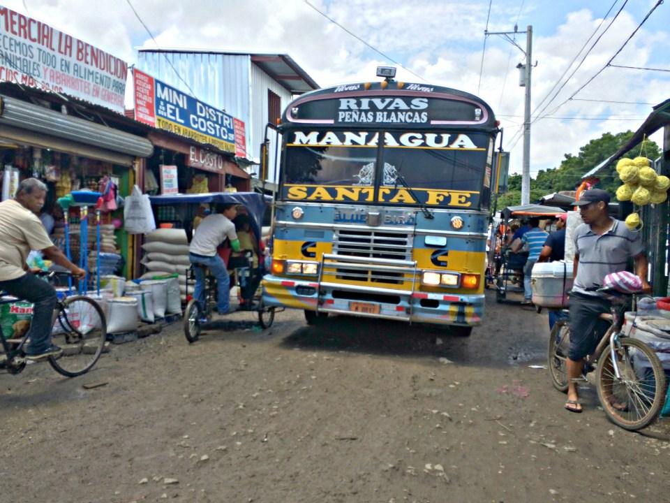 Bus in Rivas, Nicaragua