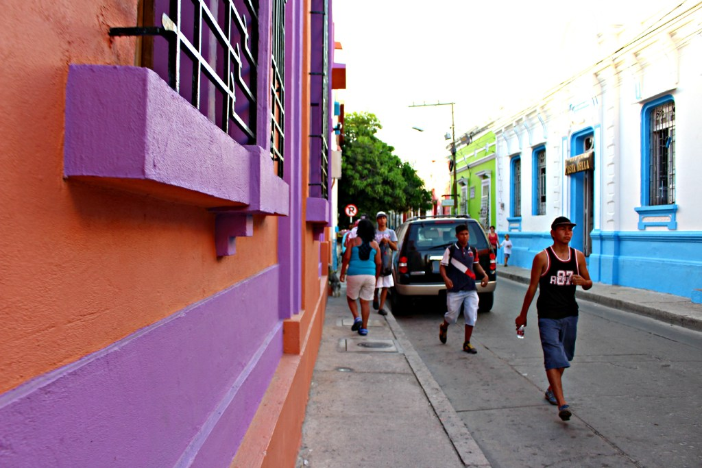 Colorful streets of Santa Marta, Colombia