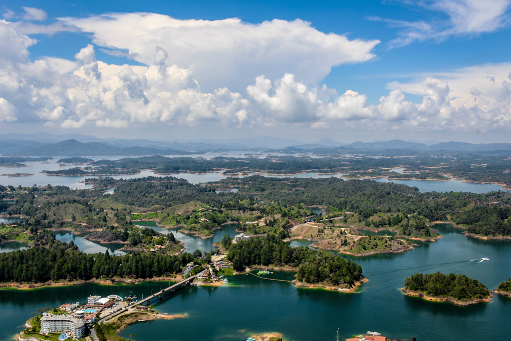 View from La Piedra del Peñol near Guatape, Colombia
