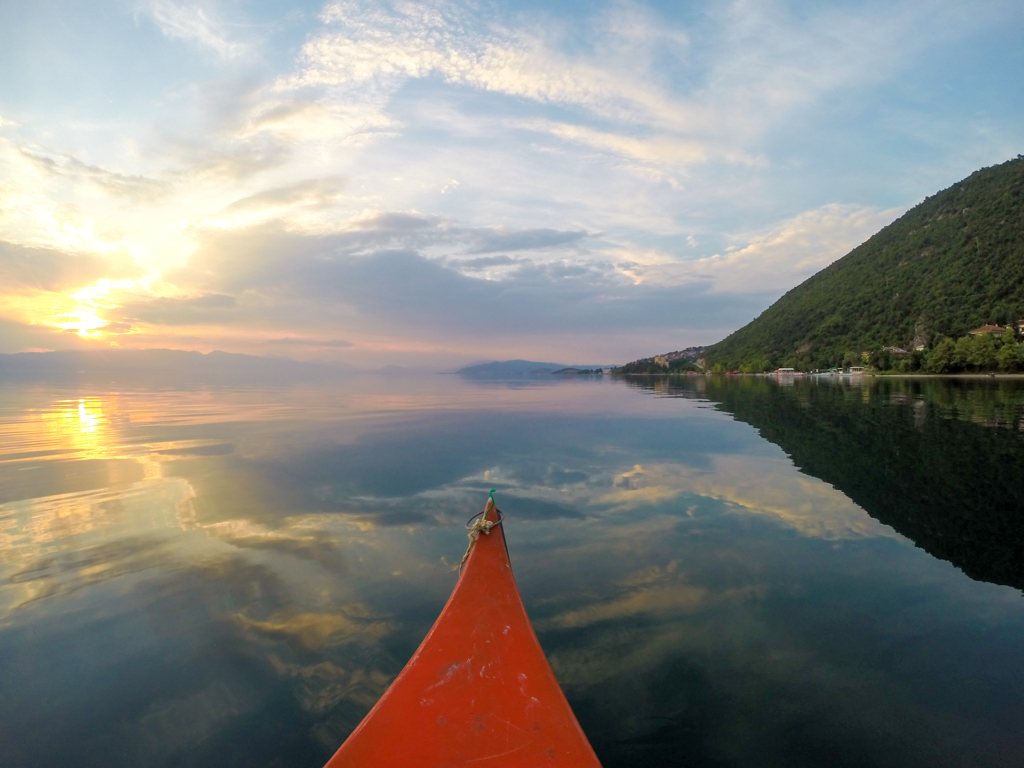 Canoeing on Lake Ohrid