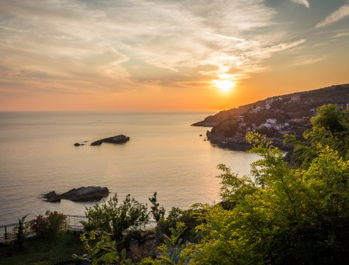 Sunset in Ulcinj, Montenegro