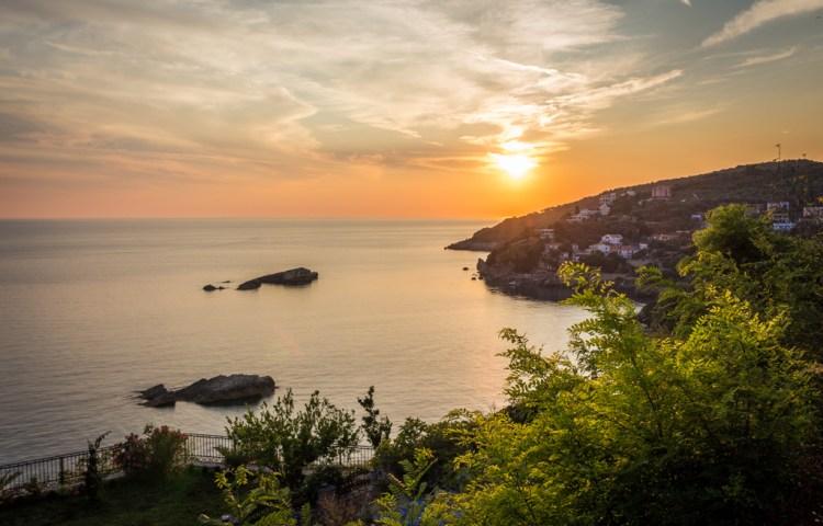Sunset in Ulcinj, Montenegro