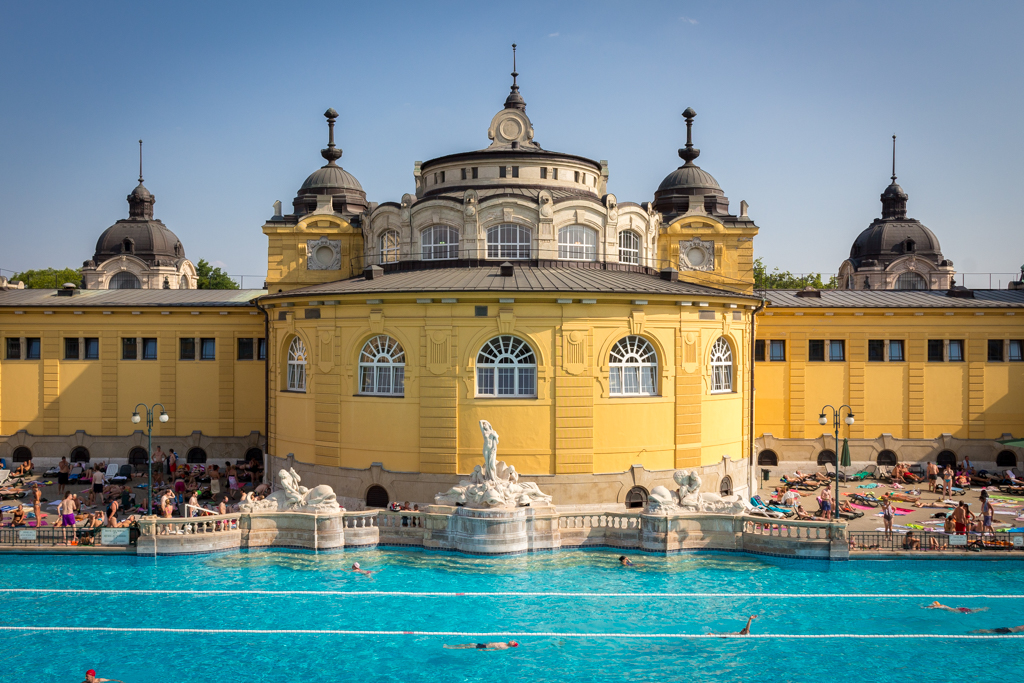The thermal baths of Budapest, Hungary