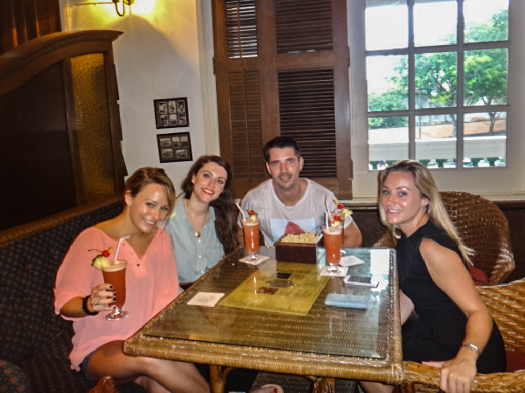Singapore Slings at the famous Raffles Hotel