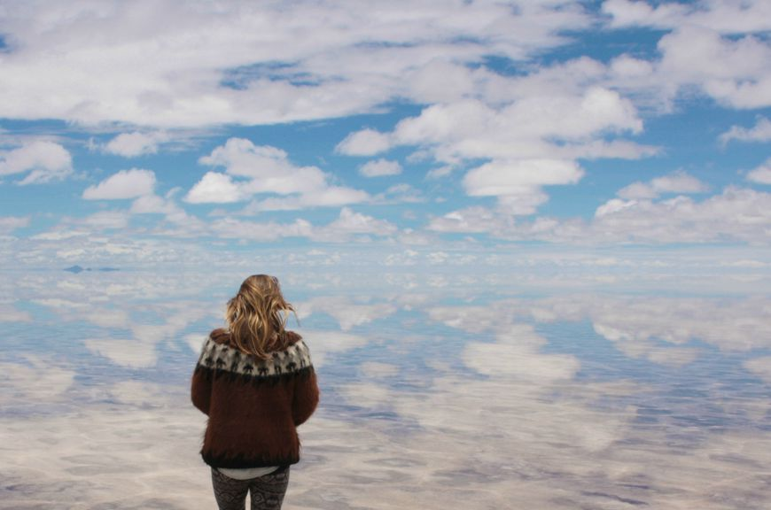El Salar de Uyuni, the world's largest salt flat