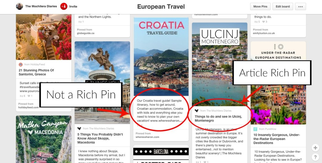 Using Article Rich Pins - Pinterest for Travel Bloggers