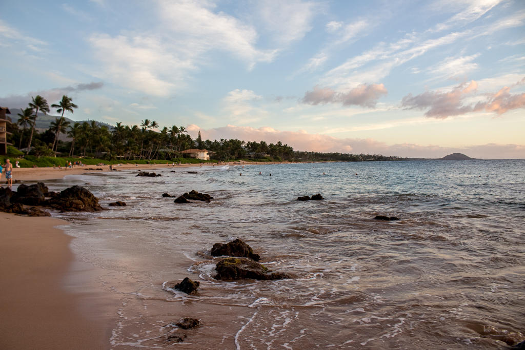 Sunset at Keawakapu Beach, Maui