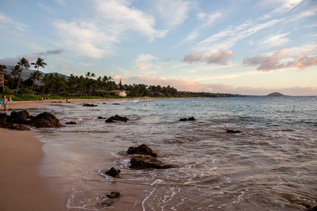 Sunset at Keawakapu Beach, Maui
