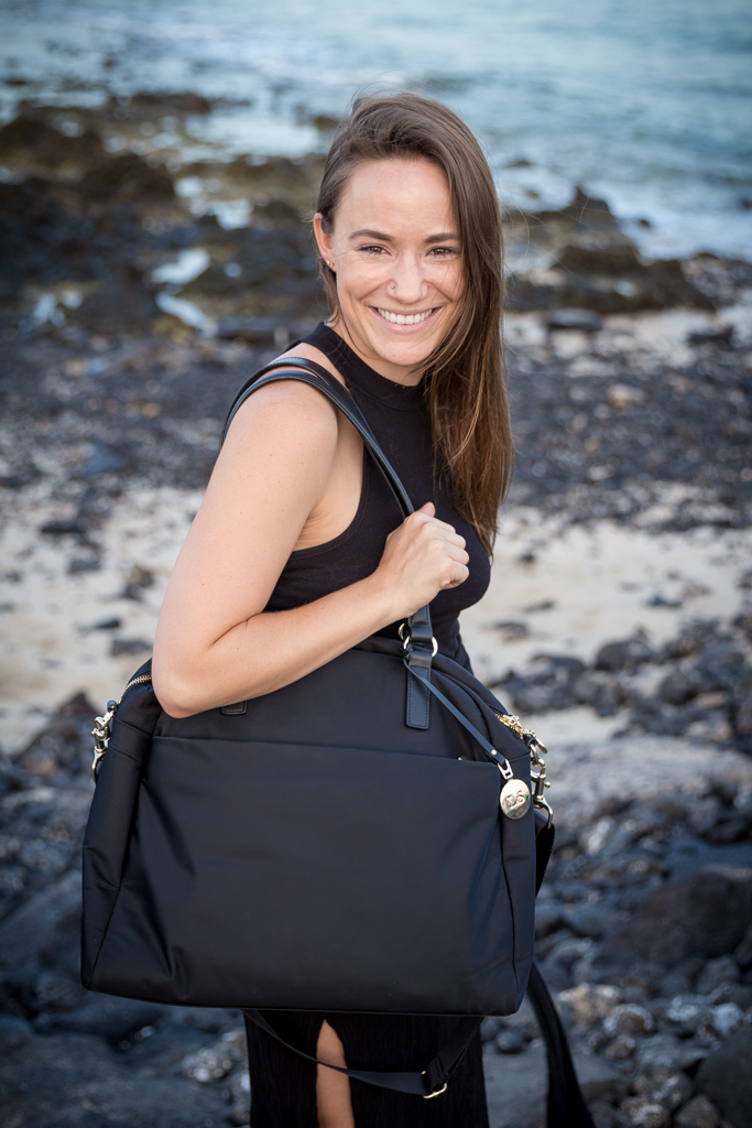 The OMG bag by Lo & Sons, the most important accessory in my digital nomad packing list.