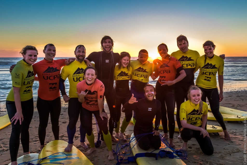 Surfing in Lacanau, France with UCPA