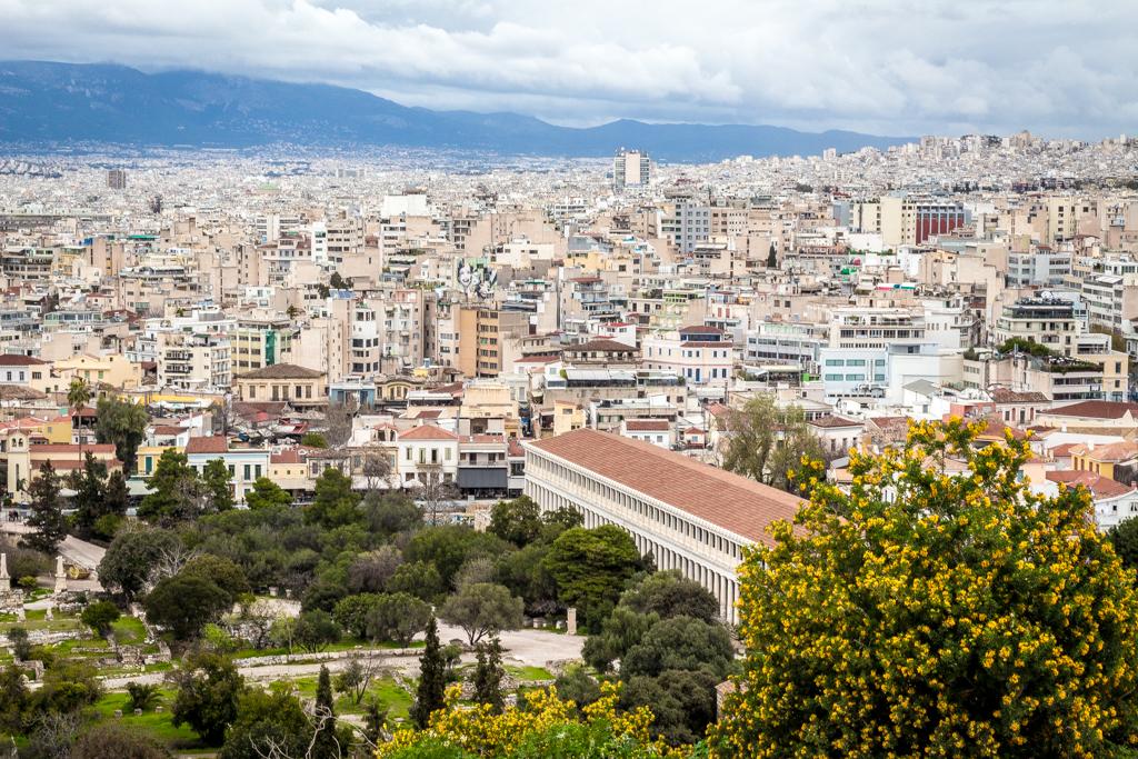 The Ancient Agora versus Modern Athens