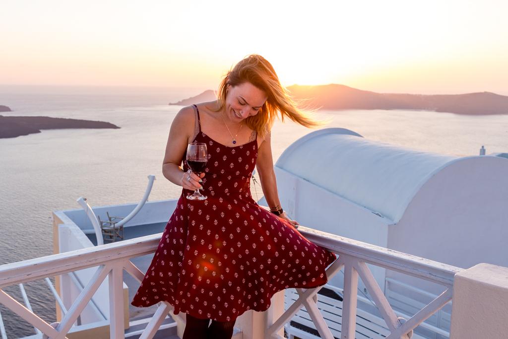 Sunset in Firostefani, Santorini, Greece
