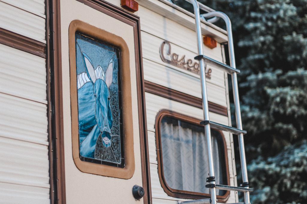Our camper, Ginger, in Wenatchee, Washington