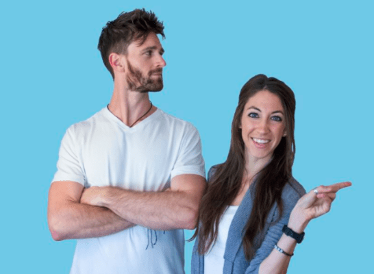 Alex and Lauren, creators of the Pinterest Traffic Avalanche course