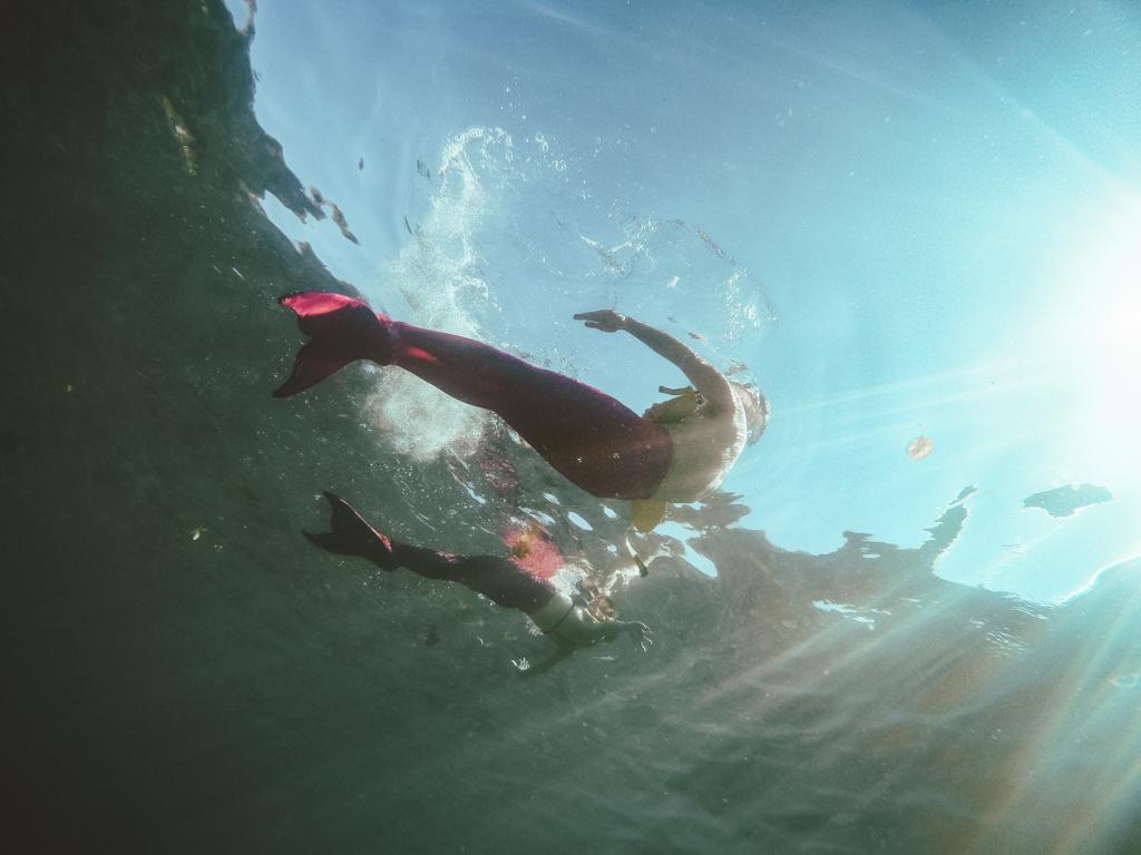 Swimming like mermaids in Maui with Hawaii Mermaid Adventures