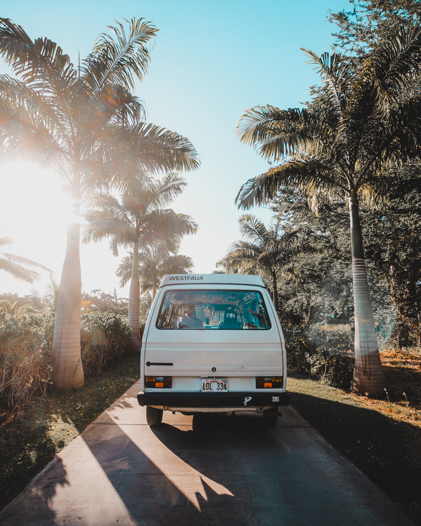 Traveling in a campervan in Maui
