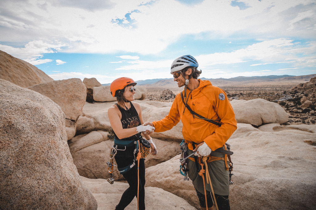 Rock climbing in Joshua Tree National Park with The Mountain Bureau LLC