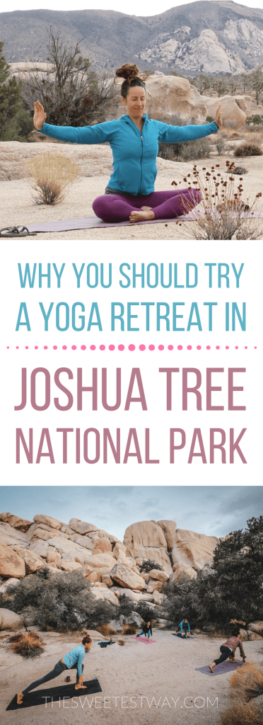 I went on a yoga retreat in Joshua Tree National Park and it was AMAZING! #yoga #yogaretreat #joshuatree