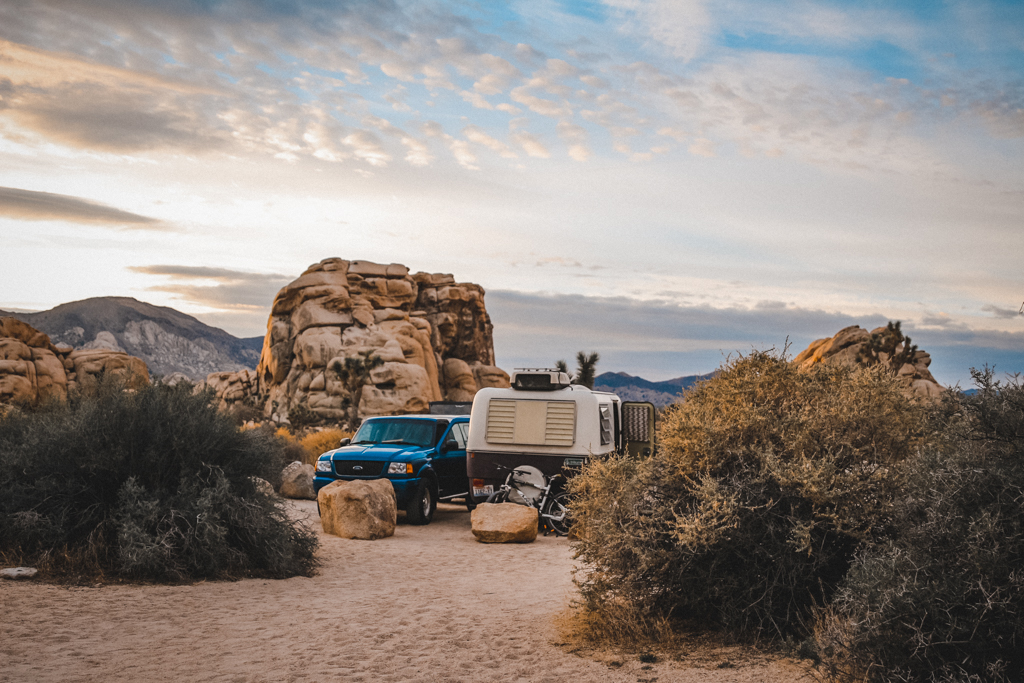 Waking early for morning yoga in Joshua Tree National Park