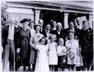 Sweet family leaving Finnartmore for a wedding. Archie's 1947?