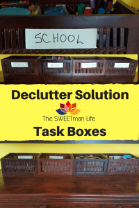 declutter, home organization, task boxes