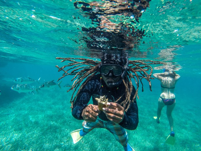 Raggamuffin Tour Guide underwater