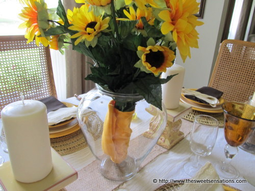sunflowers and burlap 7