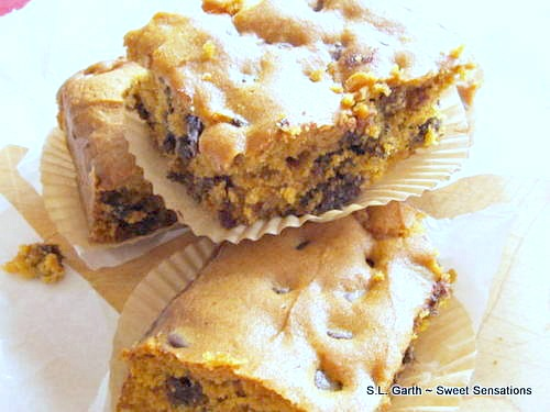 pumpkin blondies 4
