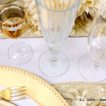 Gold & White Wedding Table