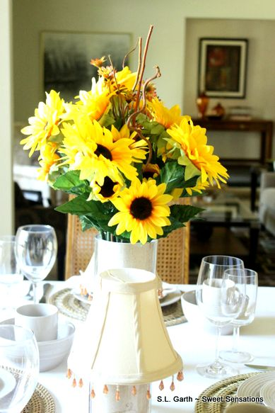 My late summer sunflower tablescape
