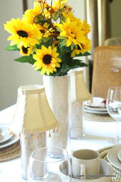 My late summer sunflower tablescape.