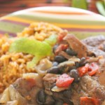Pork and Black Beans With Chili Lime Rice