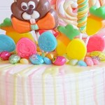 Easter Candy Drip Cake