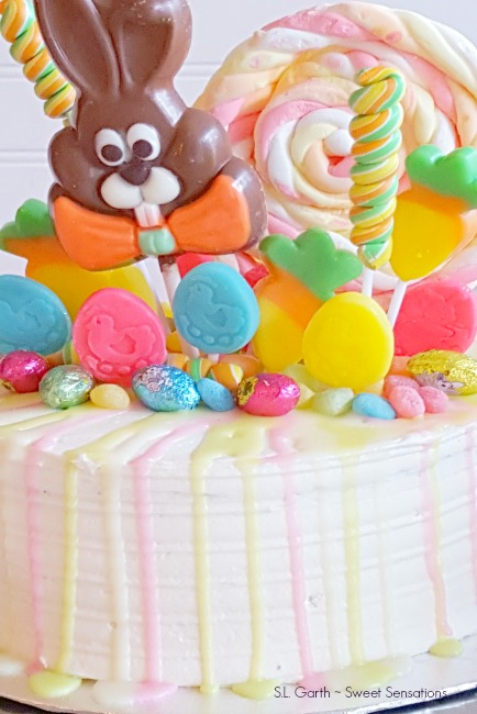 Easter Candy Drip Cake Sweet Sensations
