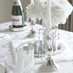 Romantic Tablescape for Two in Silver and White