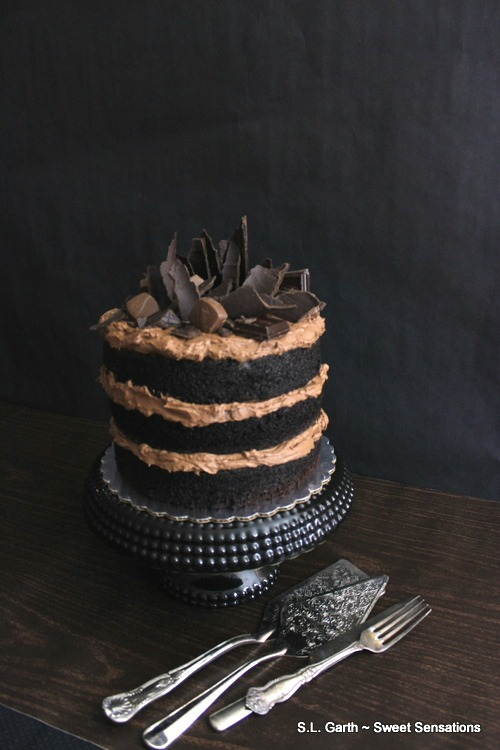 This Naked Buttermilk Chocolate Cake is the stuff chocolate cake dreams are made of.