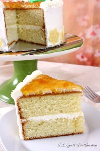 Consider skipping dinner and dive right into this Vanilla Cake with White Chocolate Buttercream and Fig Pear Topping.