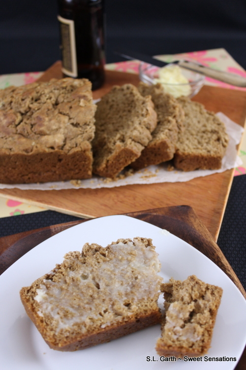 Crusty, simple yet delicious Buttery Beer Bread, enjoy it toasted or plain with a good slather of butter and or jam.