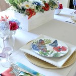 WaterColor Inspired Spring Table