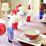 A Classy and Casual July 4th Tablescape