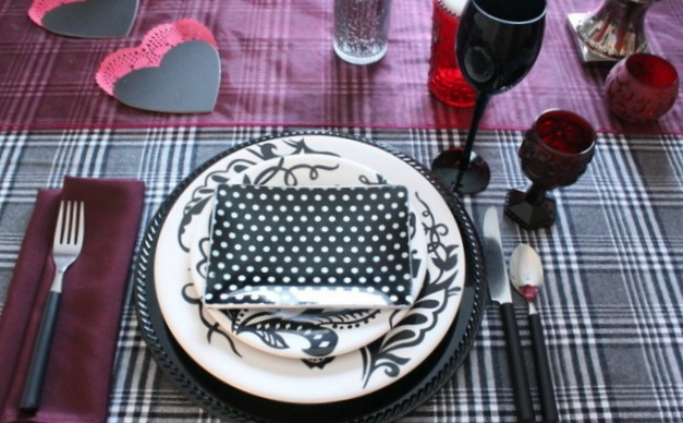 While Styling this No-fuss No-Muss Gender Neutral Valentine's Tablescape, I found that the best way to remain neutral is to use simple patterns, with subtle colors, and textures.