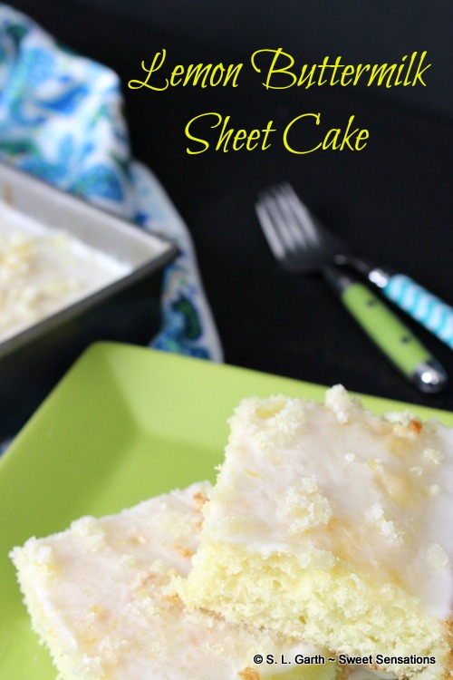 Lemom Buttermilk Sheet Cake 15 Sweet Sensations